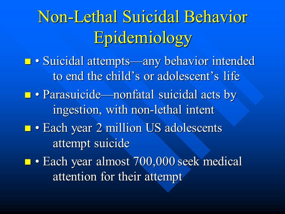 Non-Lethal Suicidal Behavior Epidemiology