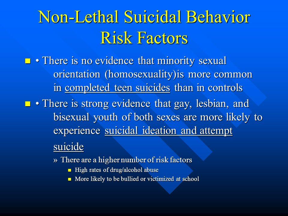 Non-Lethal Suicidal Behavior Risk Factors