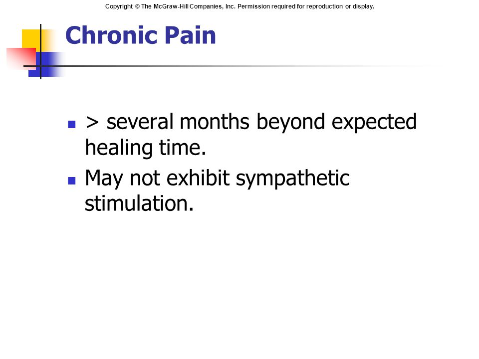 Chronic Pain > several months beyond expected healing time.