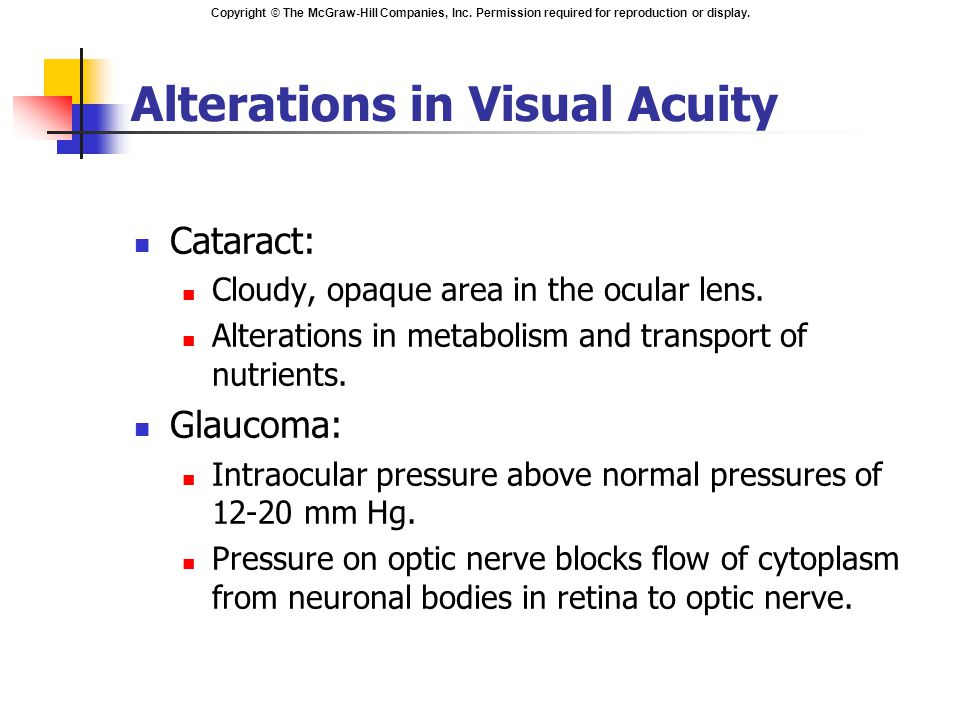 Alterations in Visual Acuity