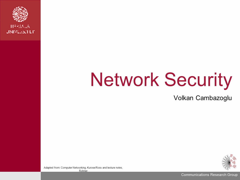 Network Security Volkan Cambazoglu