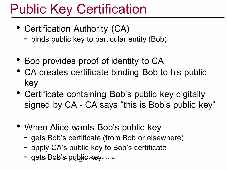 Public Key Certification