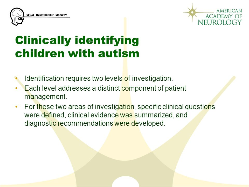 Clinically identifying children with autism
