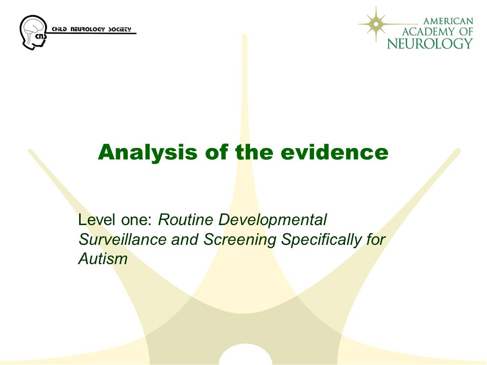 Analysis of the evidence