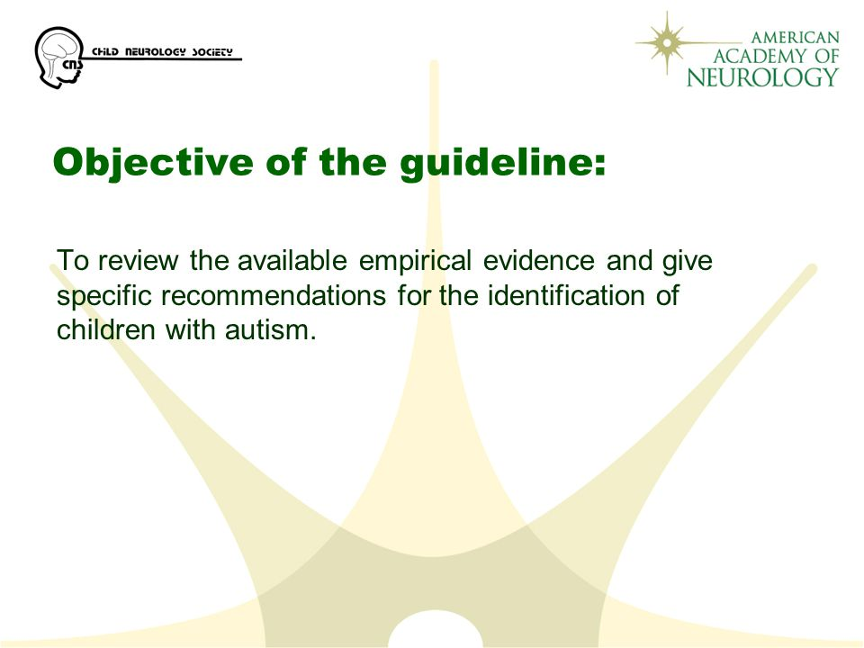 Objective of the guideline: