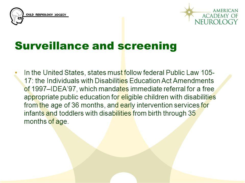 Surveillance and screening