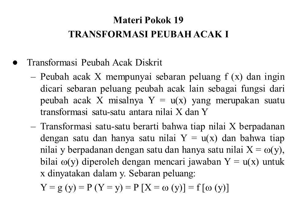 TRANSFORMASI PEUBAH ACAK I