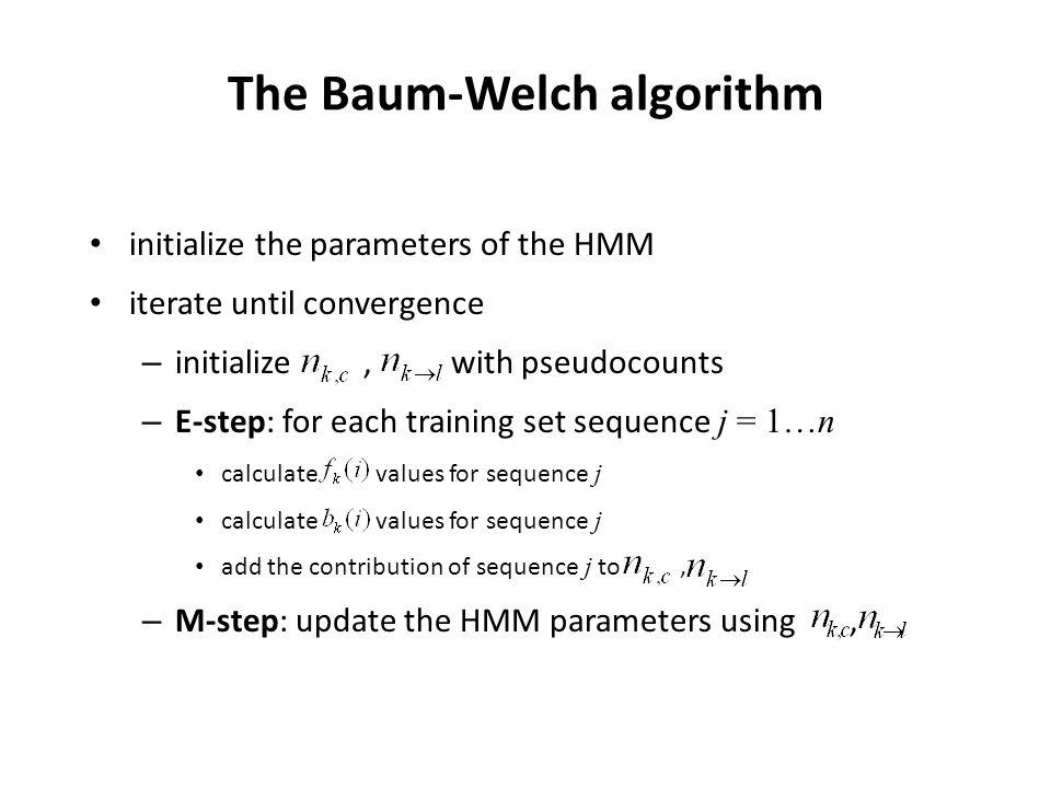 The Baum-Welch algorithm