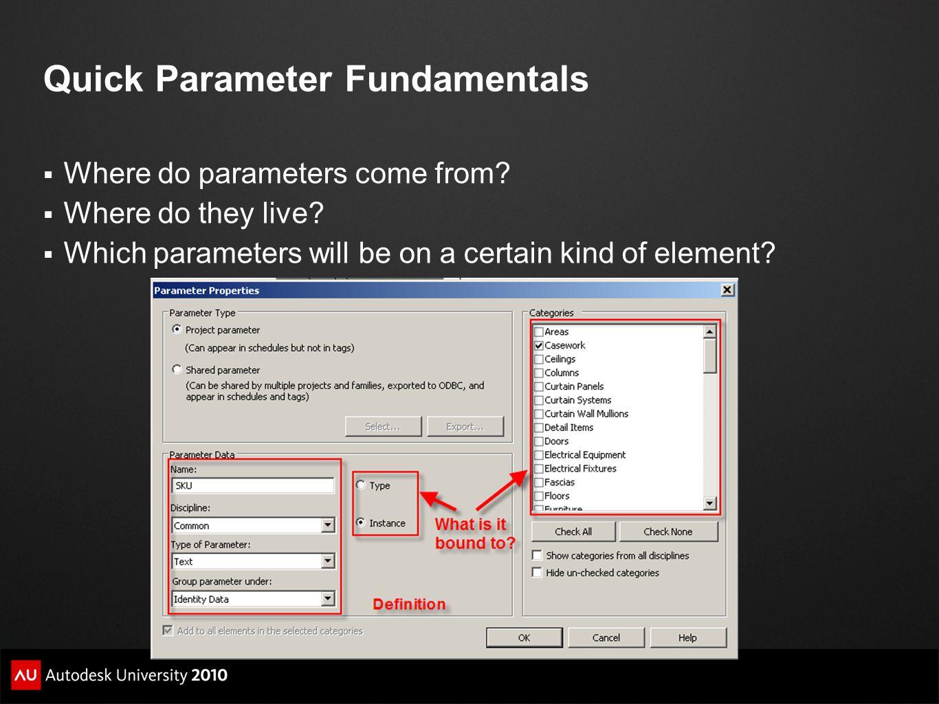 Quick Parameter Fundamentals