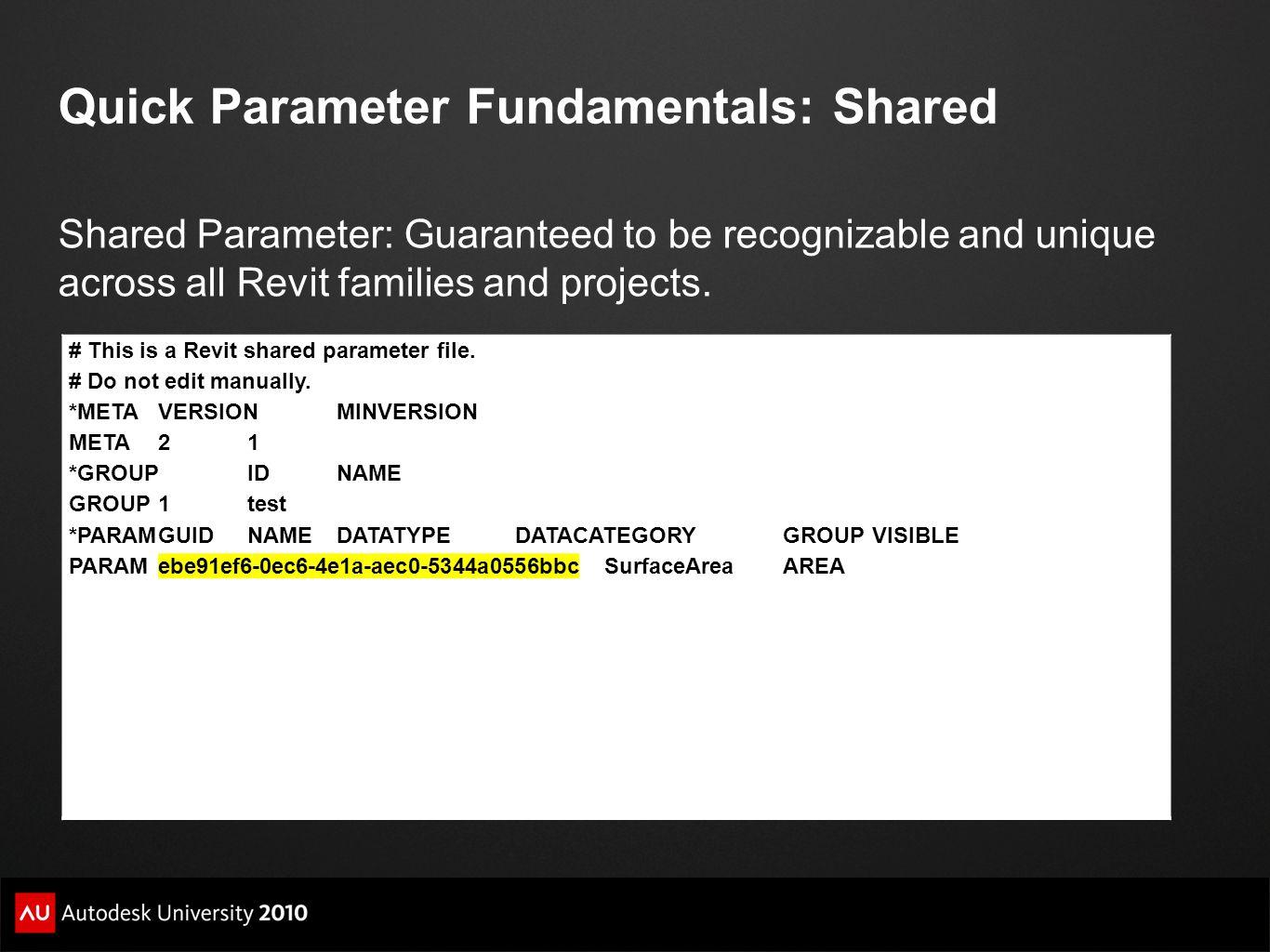 Quick Parameter Fundamentals: Shared