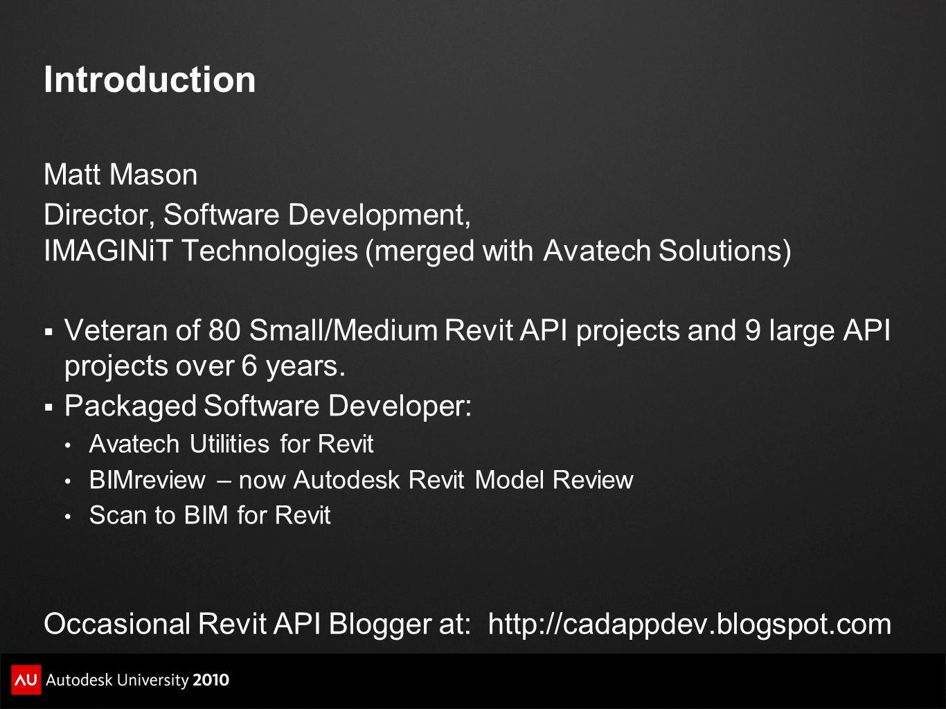 Introduction Matt Mason