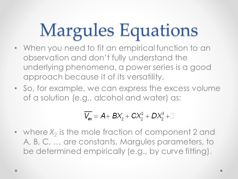 Margules Equations