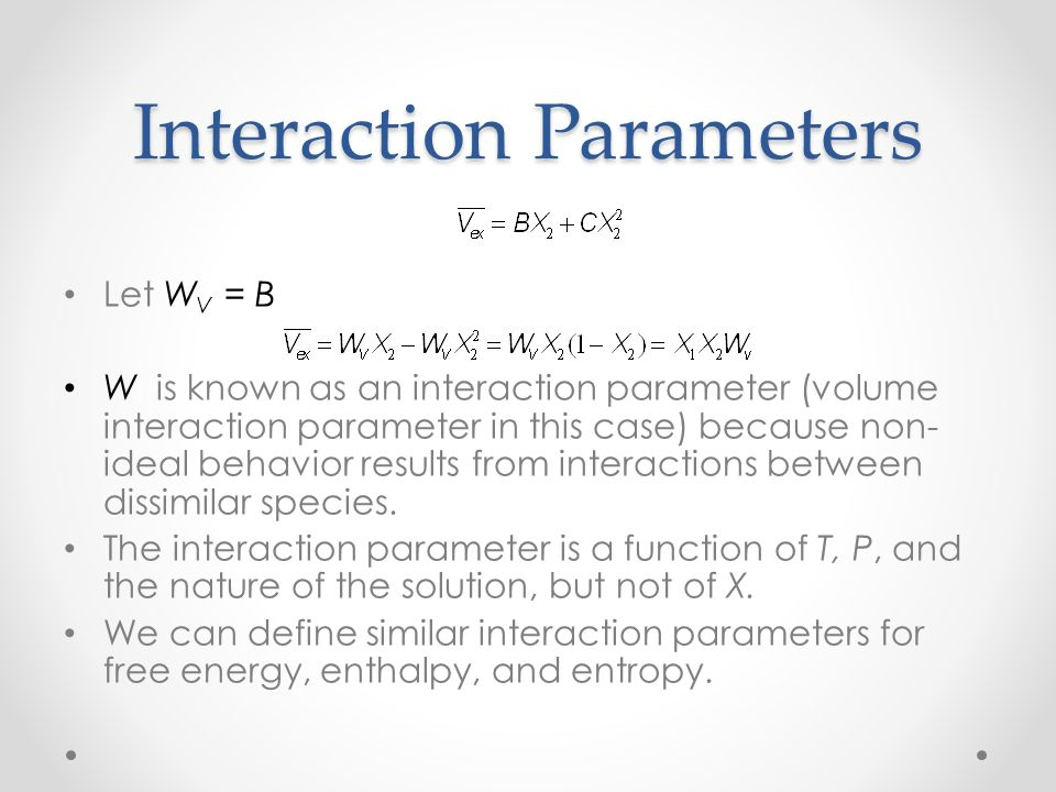 Interaction Parameters