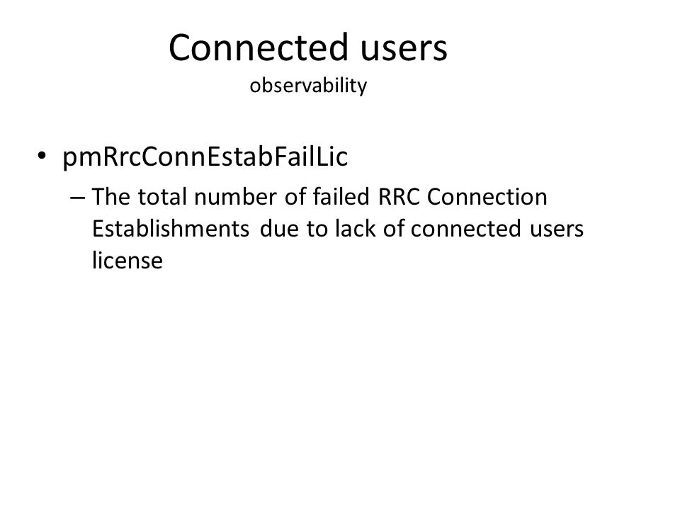 Connected users observability