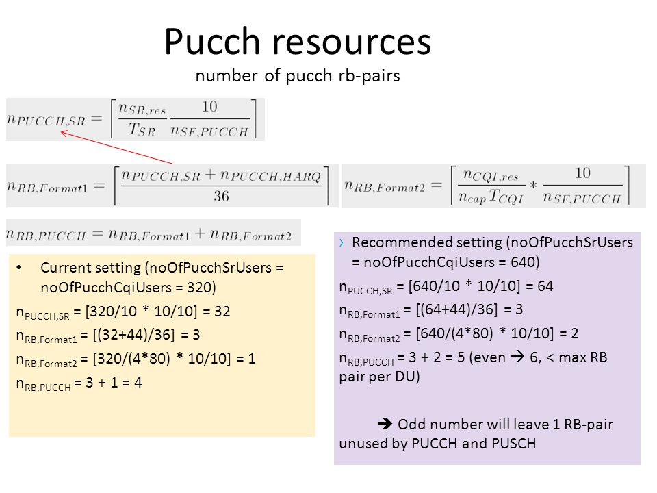 Pucch resources number of pucch rb-pairs