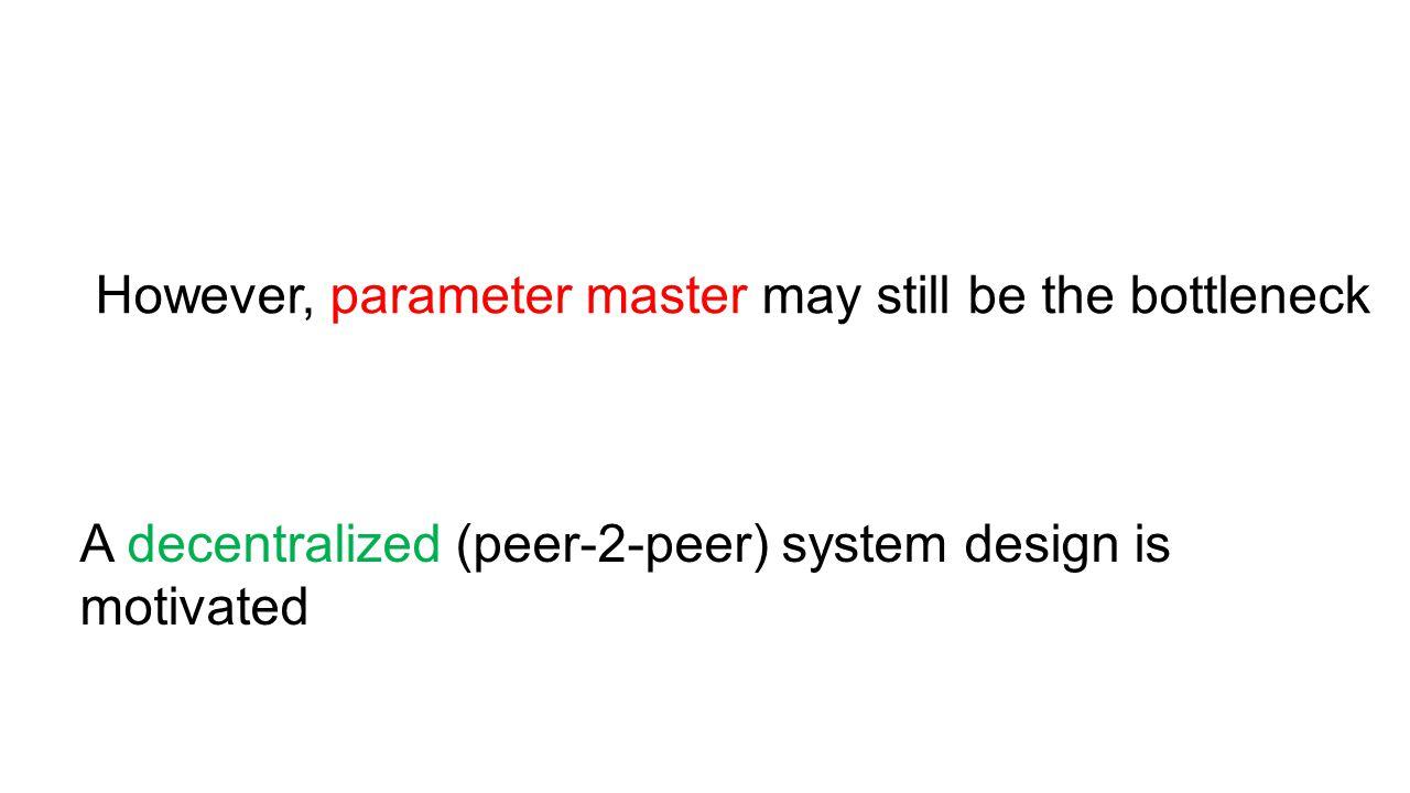 However, parameter master may still be the bottleneck
