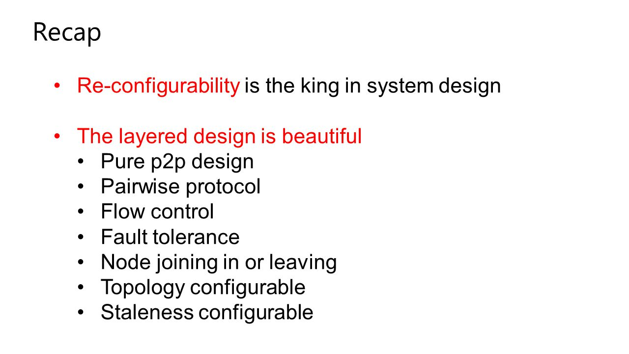 Recap Re-configurability is the king in system design