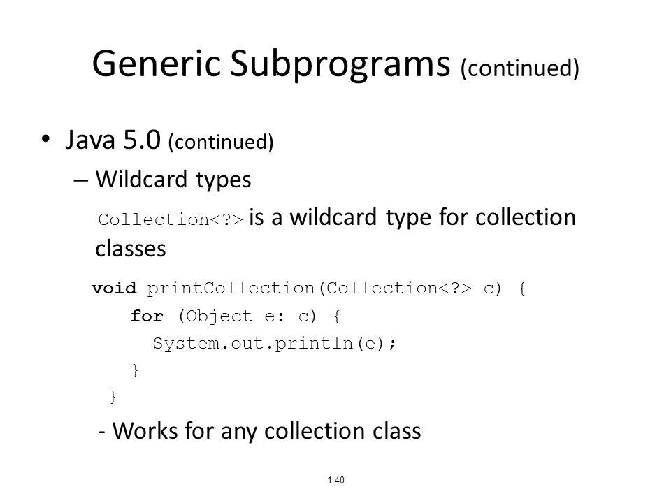 Generic Subprograms (continued)