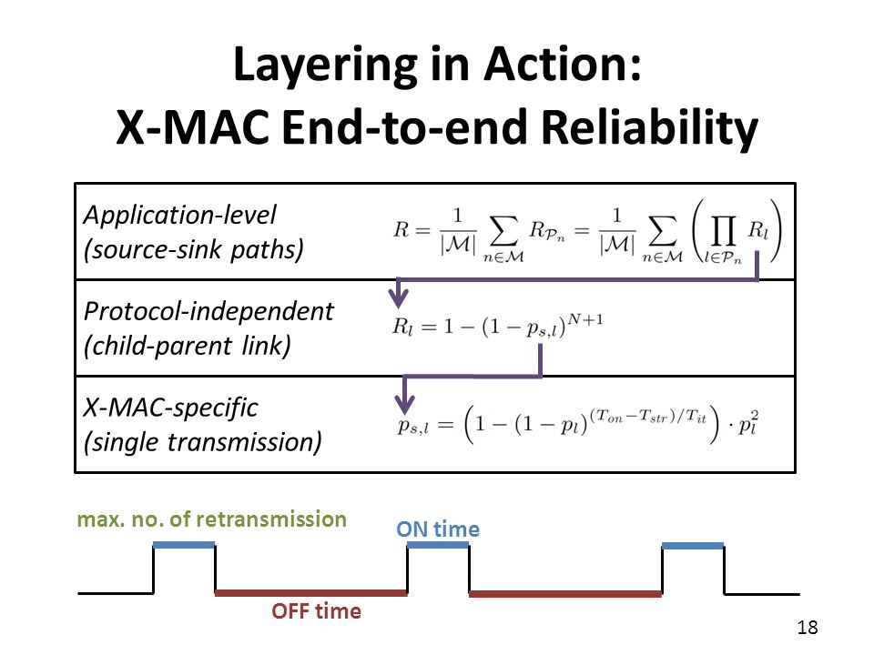 Layering in Action: X-MAC End-to-end Reliability