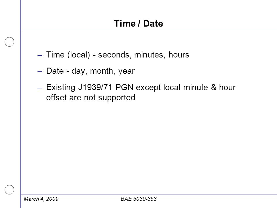 Time / Date Time (local) - seconds, minutes, hours