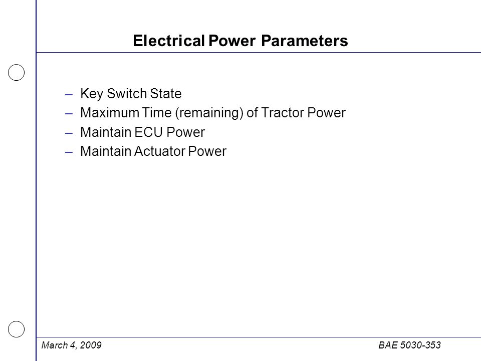 Electrical Power Parameters