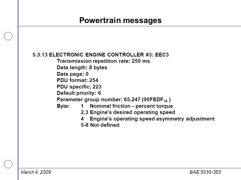 Powertrain messages 5.3.13 ELECTRONIC ENGINE CONTROLLER #3: EEC3