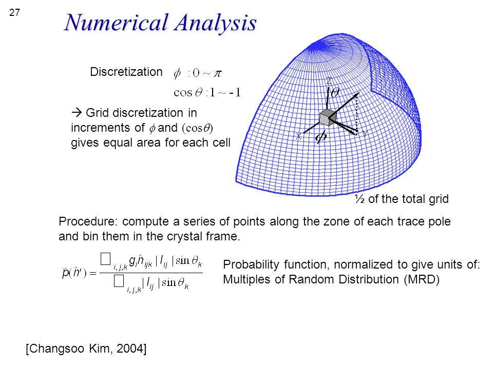 Numerical Analysis Discretization