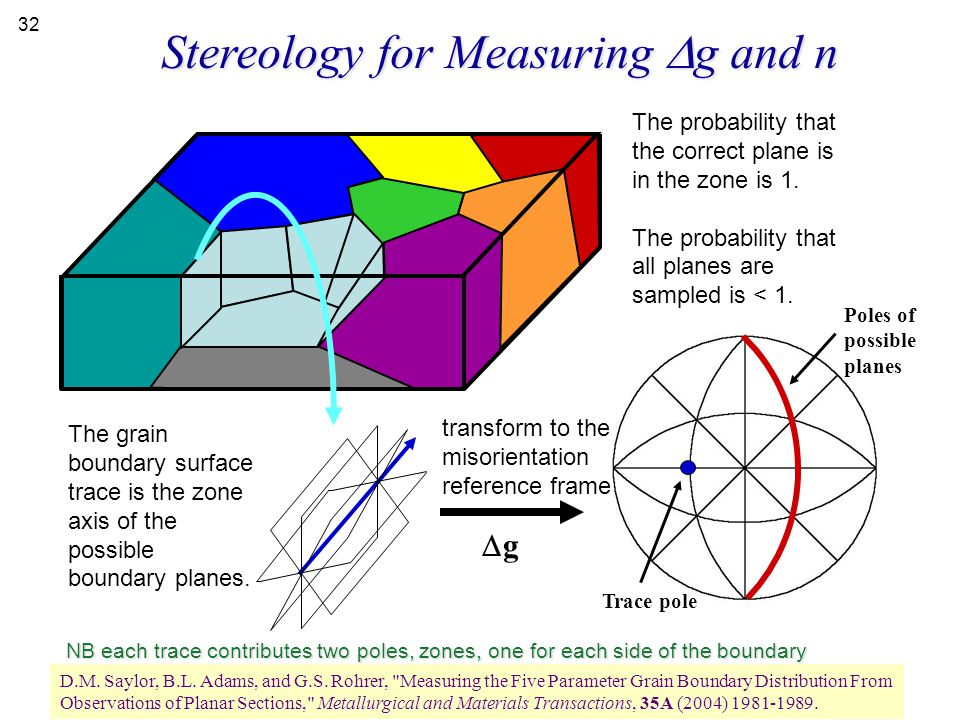 Stereology for Measuring Dg and n