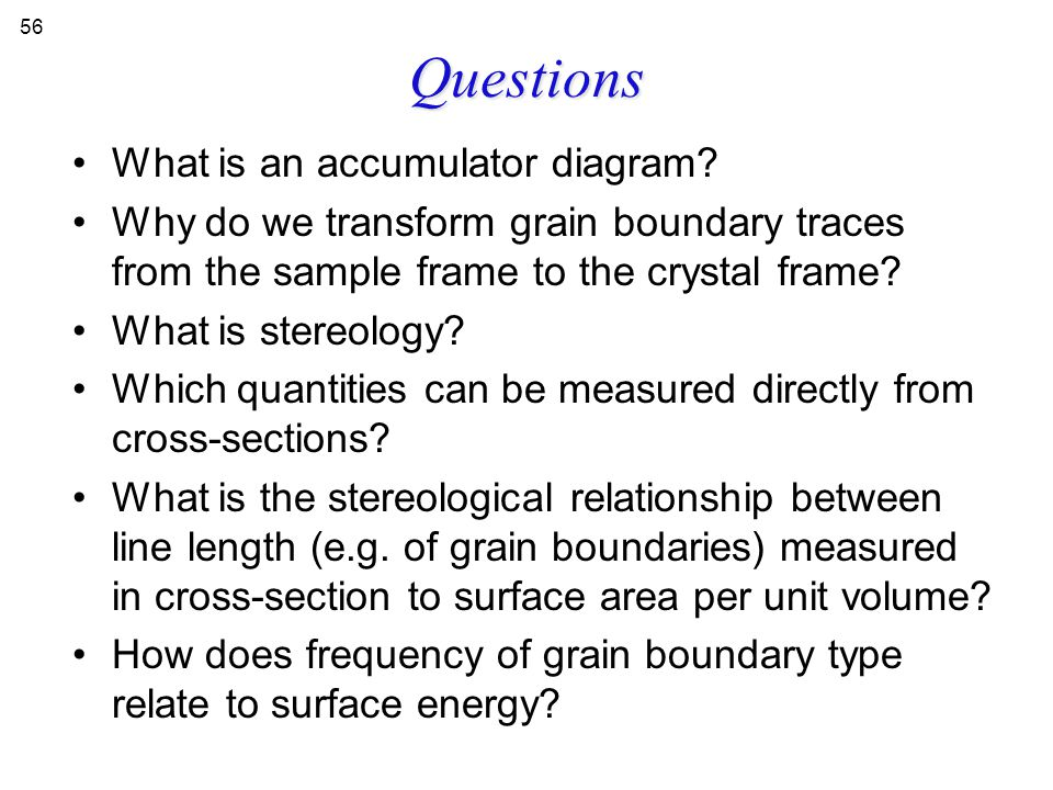 Questions What is an accumulator diagram