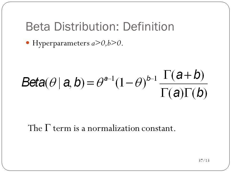 Beta Distribution: Definition