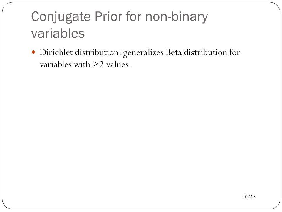 Conjugate Prior for non-binary variables