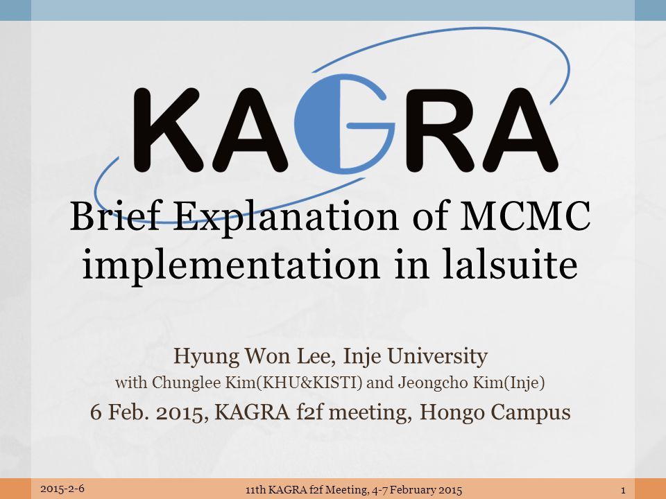 Brief Explanation of MCMC implementation in lalsuite