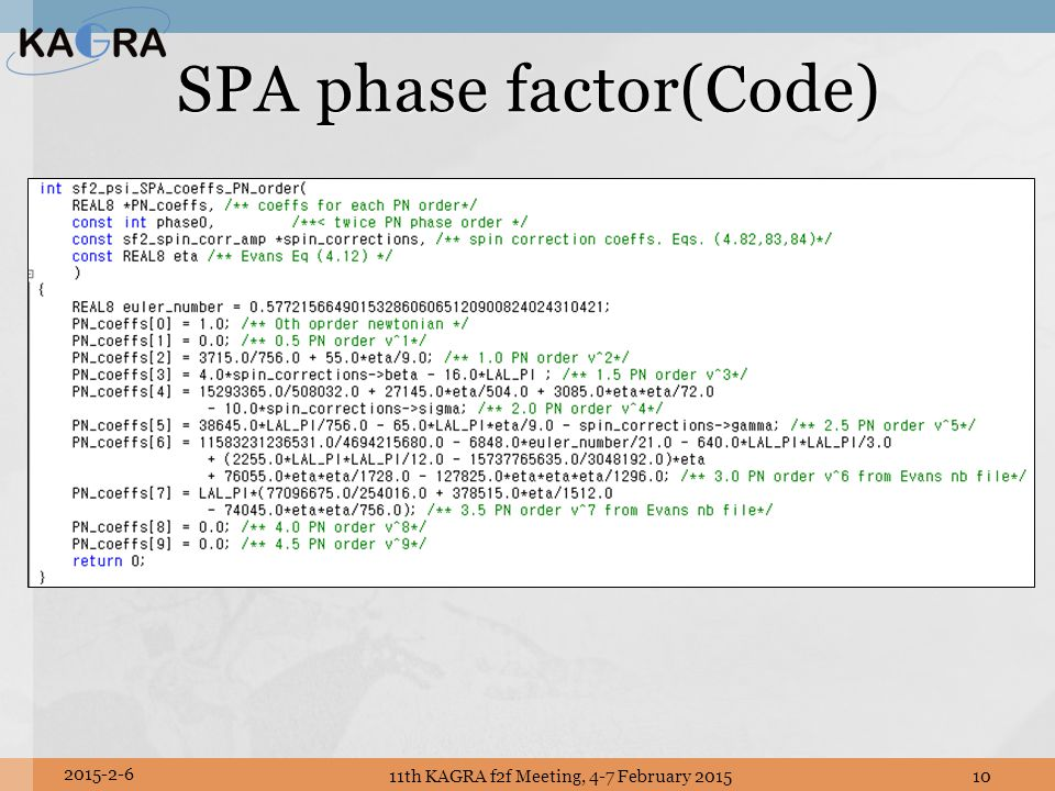 SPA phase factor(Code)