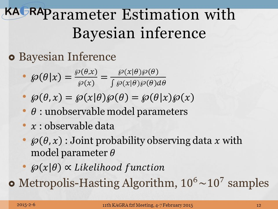 Parameter Estimation with Bayesian inference