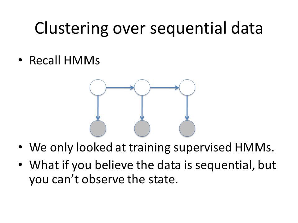 Clustering over sequential data