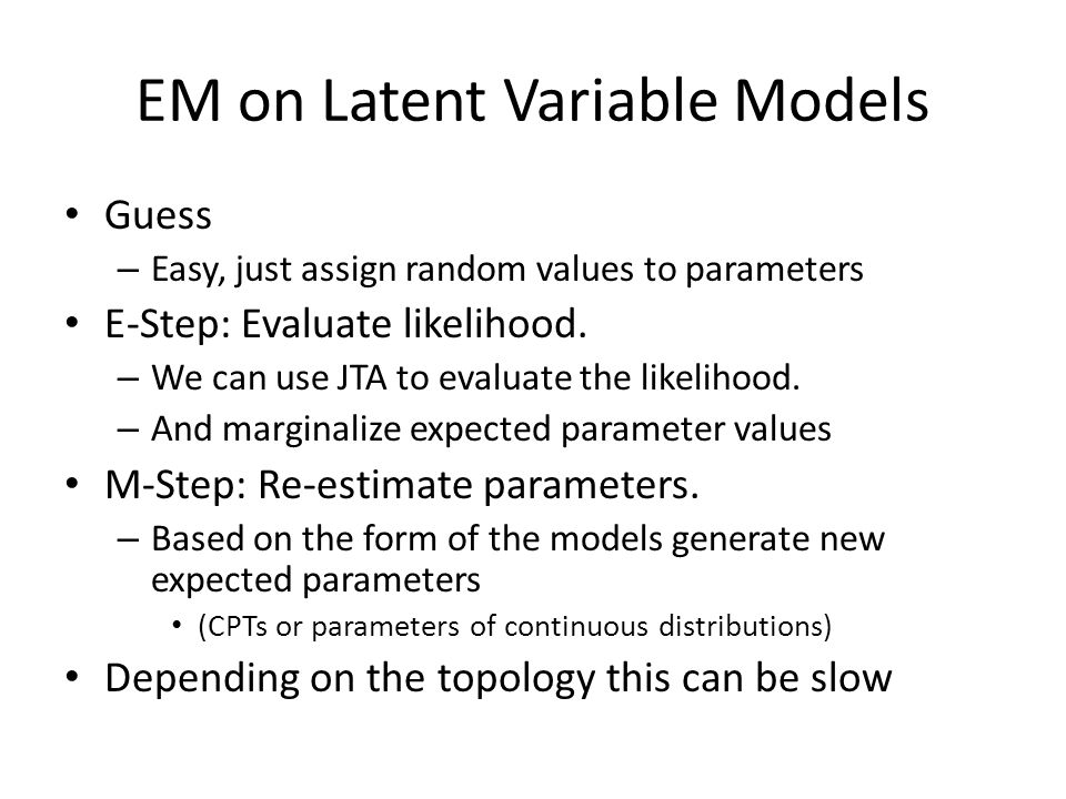 EM on Latent Variable Models