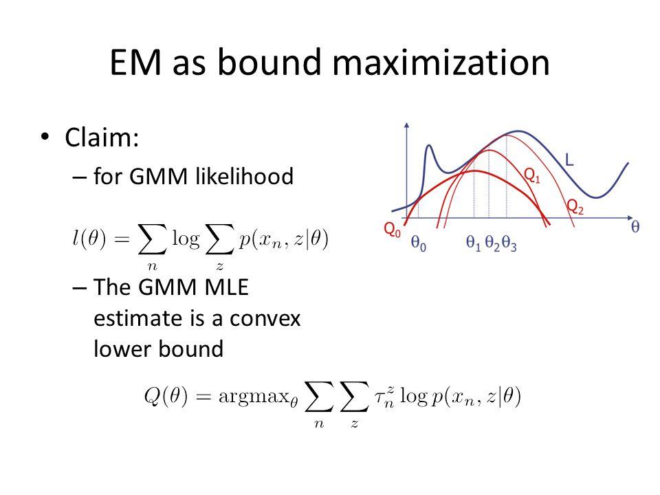 EM as bound maximization