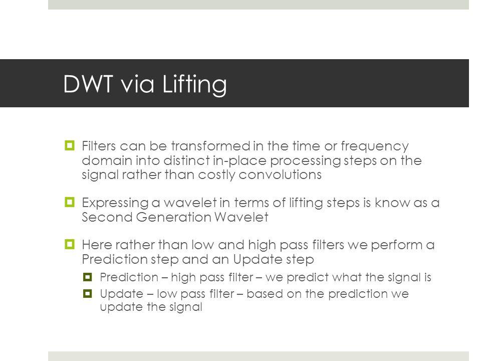DWT via Lifting