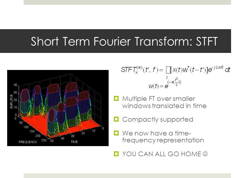 Short Term Fourier Transform: STFT