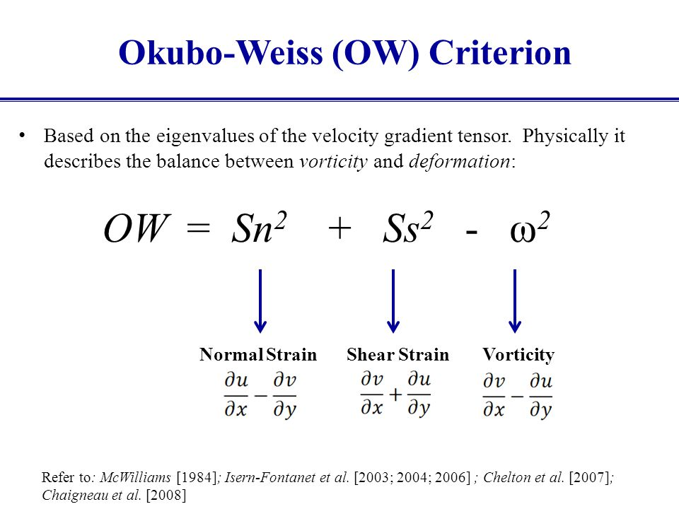 Okubo-Weiss (OW) Criterion