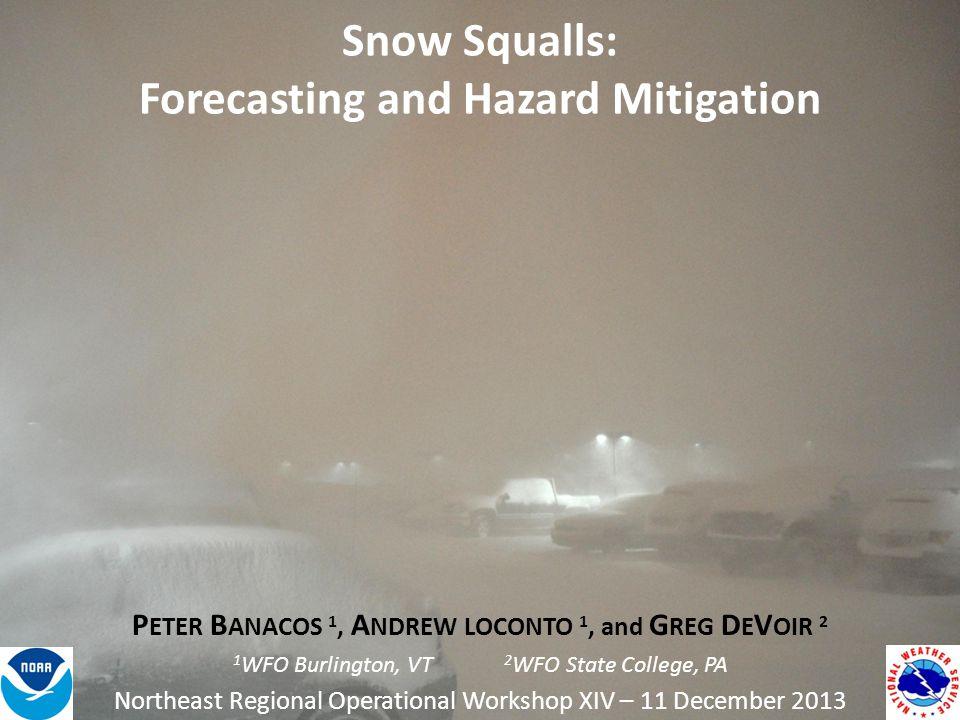 Snow Squalls: Forecasting and Hazard Mitigation