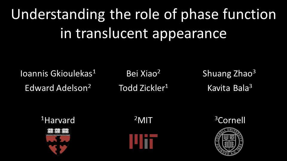 Understanding the role of phase function in translucent appearance