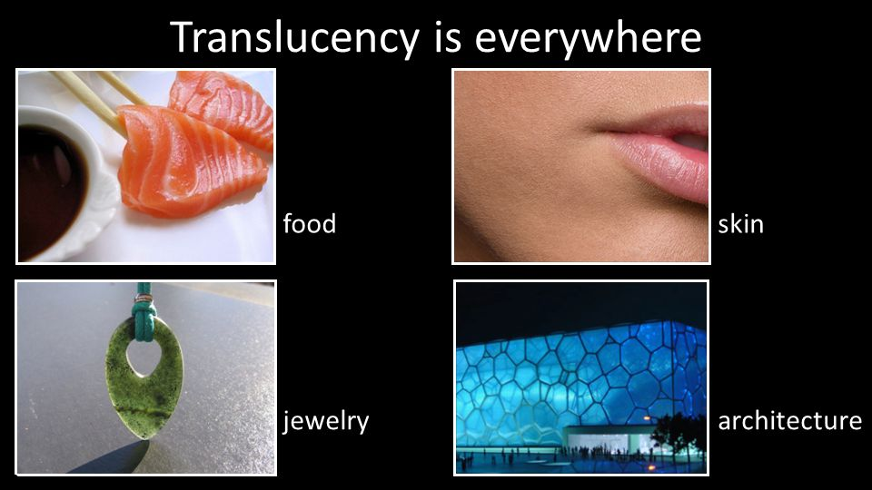 Translucency is everywhere