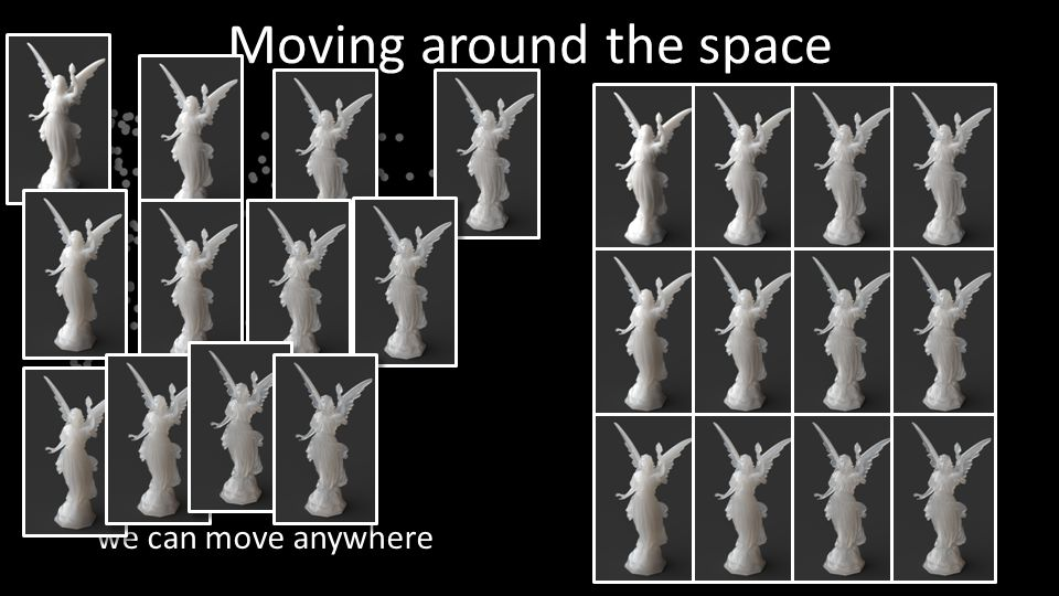 Moving around the space