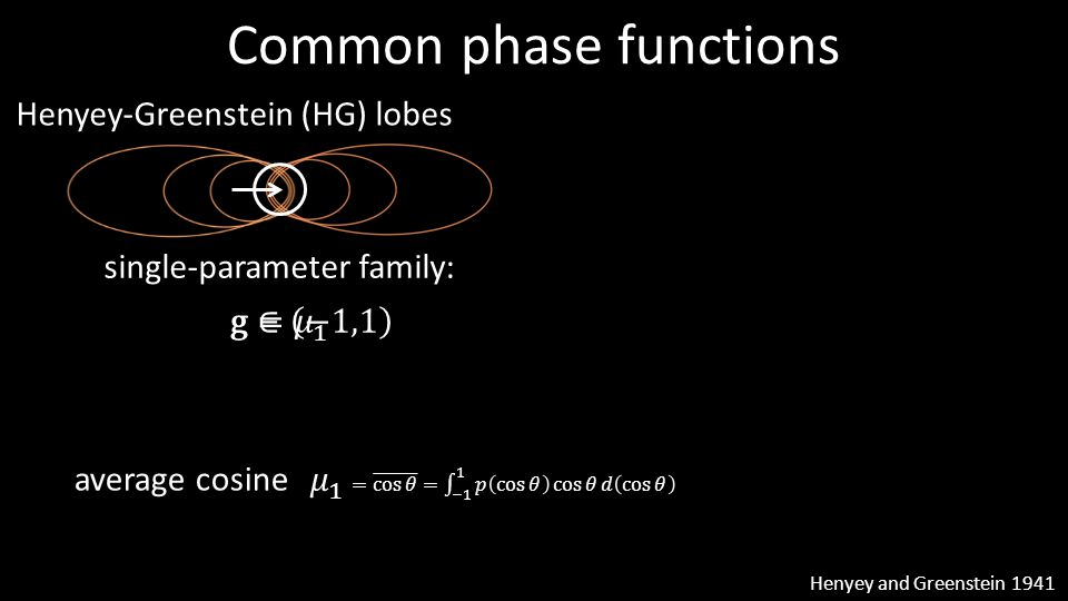 Common phase functions