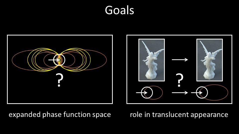 Goals expanded phase function space role in translucent appearance