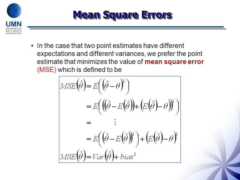 Mean Square Errors