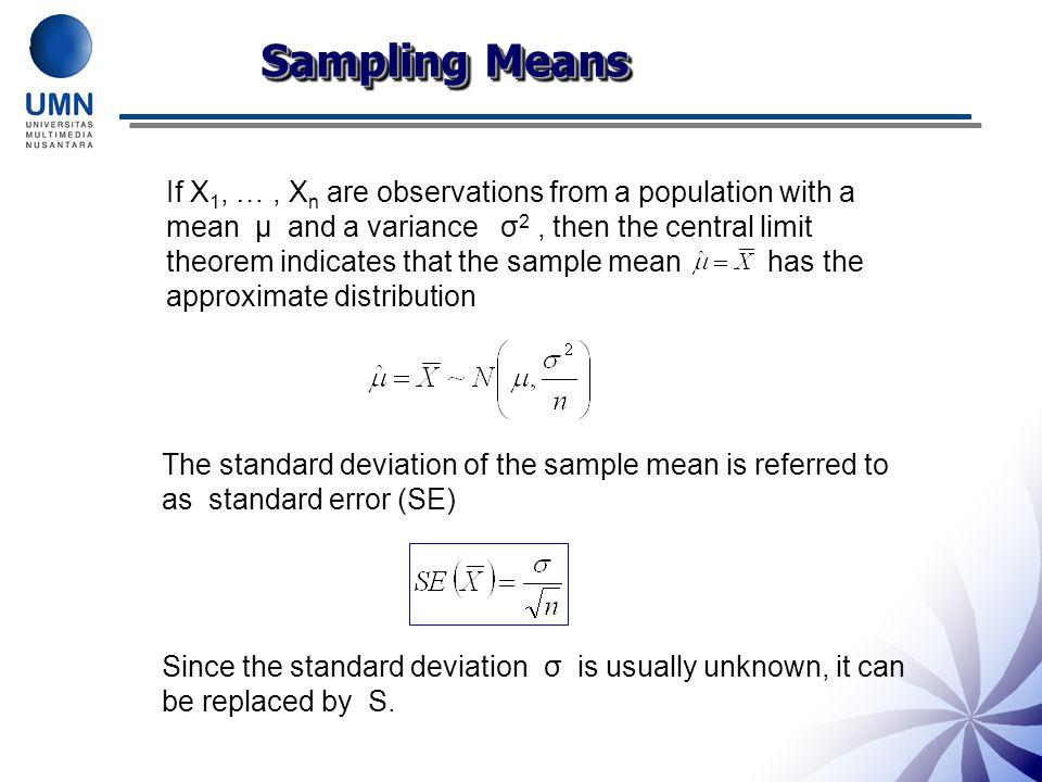 Sampling Means