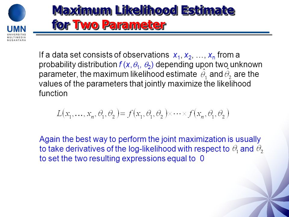Maximum Likelihood Estimate for Two Parameter