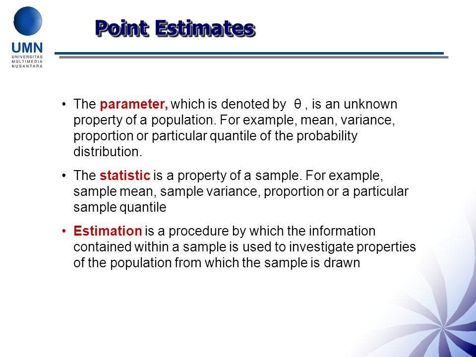 Point Estimates